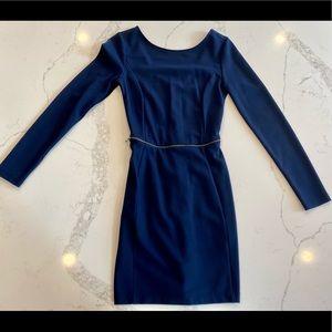 Zara Navy Blue Business Dress